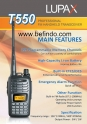 HT VHF Lupax T550
